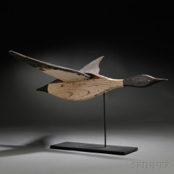 Painted Wooden Flying Canada Goose Weathervane