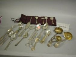 Lot of Miscellaneous Silver and Silver Plate Flatware
