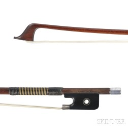 English Silver-mounted Violoncello Bow, W.E. Hill & Sons