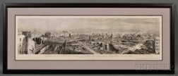 After J.W. Black (American, 1825-1896)      Panoramic View of the Ruins After the Great Fire in Boston...