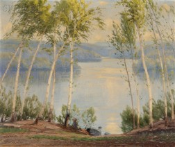 Gustave Adolph Wiegand (American, 1870-1957)      Springtime in the Birches, Otter Pond, N.H.