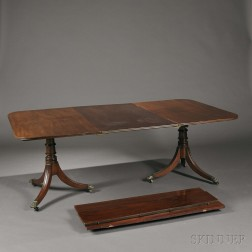 George III Mahogany Double-pedestal Dining Table