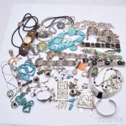 Group of Mexican and Southwestern Jewelry