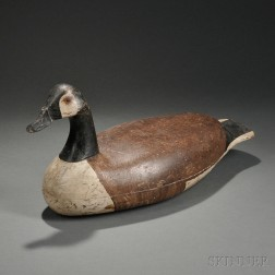 Painted Cedar Canada Goose Decoy