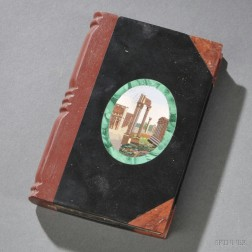 Grand Tour Micromosaic-inlaid Book-form Paperweight