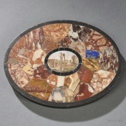 Grand Tour Micromosaic and Specimen-inlaid Paperweight