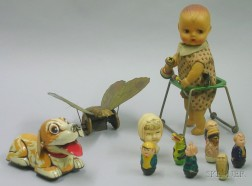 Group of Articulated Toys and Roly-Polys