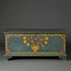Paint-decorated Pine Blanket Chest