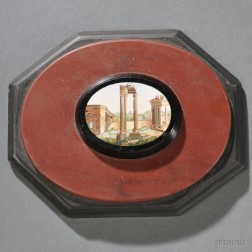 Grand Tour Micromosaic-inlaid Paperweight