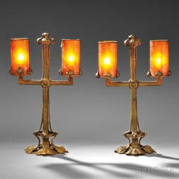 Two Art Nouveau Table Lamps