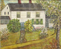 Framed Oil on Canvas View with White House by Drew-Bear (American,   1877-1962), nee Jessie Henderson