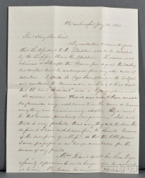 Davis, Jefferson (1808-1889) Autograph Letter Signed, 22 January 1861.
