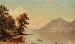 Alfred Thompson Bricher (American, 1837-1908)      Hudson River at West Point