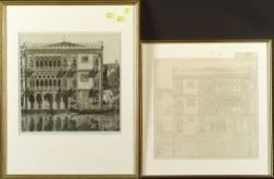 John Taylor Arms (American, 1887-1953)  Lot of Two Views of Ca D'Oro:   Venetian Filigree