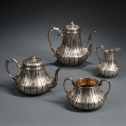 Assembled Four-piece Victorian Sterling Silver Tea and Coffee Service
