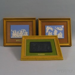 Three Framed Wedgwood Plaques