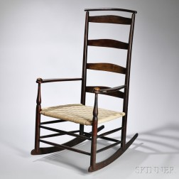 """Shaker Production """"6"""" Armed Rocking Chair"""
