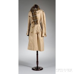 Burberry Trench Coat and Scarf