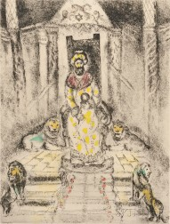 Marc Chagall (French/Russian, 1887-1985)      Solomon on his Throne