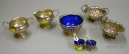Eight Assorted Sterling Silver Tableware Items