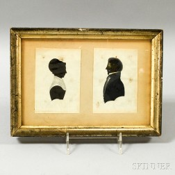 Pair of Framed Hollow-cut Silhouettes