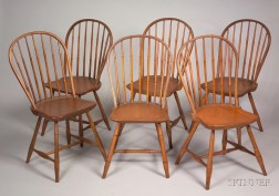 Set of Nine Windsor Bow-back Side Chairs