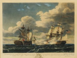 After Thomas Birch (American, 1779-1851)      ...U.S. Frigate United States...Capturing H.M.F. Macedonia...1812.