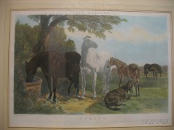 After John Frederick Herring, Sr. (British, 1795-1865)      Lot of Four Plates from THE SEASONS