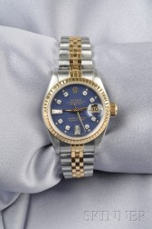 Ladies Stainless Steel and 18kt Gold Wristwatch, Rolex