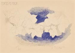 After Georges Braque (French, 1882-1963)      Le lierre sur fond bleu