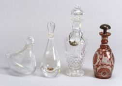 Group of Nine Glass Decanters