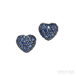 18kt White Gold and Sapphire Earrings, Chopard