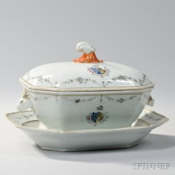 Export Porcelain Soup Tureen and Stand