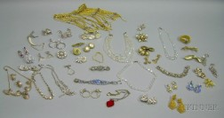 Lot of Assorted Vintage and Earlier Costume Jewelry