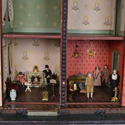 Group of Dolls and Dollhouse Furniture