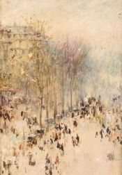 Attributed to Alfred S. Mira (American, 20th Century), After Claude Monet  (French, 1840-1926)Boulevard des Capucines