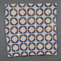 Pieced and Appliqued Cotton Patchwork Quilt