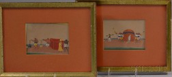 Two Framed Indian Mica Paintings,