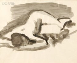 David Park (American, 1911-1960)      Female Nude, Reclining