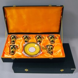 """Two Cased Sets of """"Barocco"""" Teacups and Saucers After Versace"""