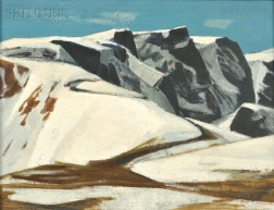 Alan Caswell Collier (American, 1911-1990)      West Peak of Beartooth Pass, Wyoming, Elevation-10,970'