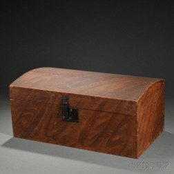 Grain-painted Dome-top Box