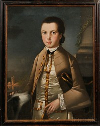 Anglo-American School, 18th Century      Portrait of a Young Man.