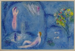 Marc Chagall (French/Russian, 1887-1985)      Daphnis and Chloe in the Cave of the Nymphs