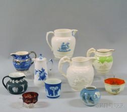 Ten Mostly Wedgwood Vessels