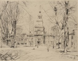 Childe Hassam (American, 1859-1935)      Independence Hall