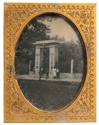 Half-plate Daguerreotype of the   Entrance to Touro Synagogue Cemetery, Newport, Rhode Island