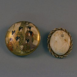 Two Pendant/Brooches