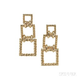 18kt Gold Rope Earrings, Tiffany & Co.