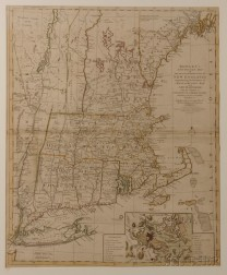 New England. Thomas Bowles (1714-1763) Bowles's New Pocket Map of the most Inhabited Part of New England